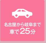 名古屋から岐阜まで車で25分